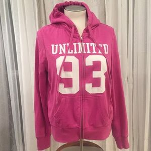 Ecko UNLTD EckoRed (L) Hot Pink Zipper Hoodie